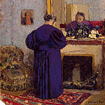 Old woman at the fireplace, Edouard Vuillard