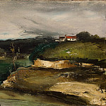 part 03 Hermitage - Vlaminck, Maurice de - Landscape with a house on the hill