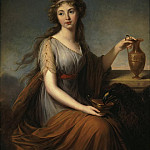 Vigee-Lebrun, Elisabeth-Louise – Portrait of Anna Pitt as Hebe, part 03 Hermitage