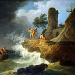 part 03 Hermitage - Vernet, Claude Joseph - Storm at the rocky shore