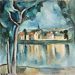 part 03 Hermitage - Vlaminck, Maurice de - Town on the shore of Lake