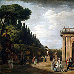 Vernet, Claude Joseph – Type in the park of Villa Ludovisi in Rome, part 03 Hermitage