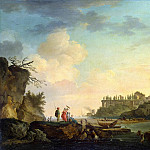Vernet, Claude Joseph – Ruins at the mouth, part 03 Hermitage