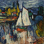 Vlaminck, Maurice de – View of the Seine, part 03 Hermitage