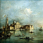 Guardi, Francesco – View of the island of San Giorgio Maggiore, part 03 Hermitage