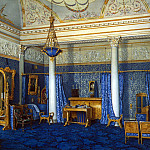 Hau Edward Petrovich – Types of rooms of the Winter Palace. Bedroom of Empress Alexandra Feodorovna , part 03 Hermitage