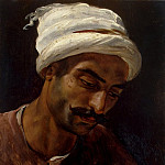 The head of an Arab, Horace Vernet