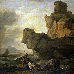 part 03 Hermitage - Vernet, Claude Joseph - The rocks at the seashore