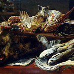 Sun, Pauvel de – Still Life with a boars head, part 03 Hermitage