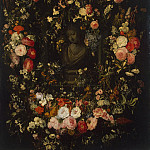 Verendal, Nicholas van – Bust of Madonna in the garland of flowers, part 03 Hermitage