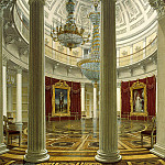 Hau Edward Petrovich – View of the Rotunda in the Winter Palace, part 03 Hermitage