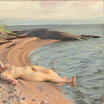 On the beach, Anders Zorn