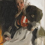 By the fireplace, Anders Zorn
