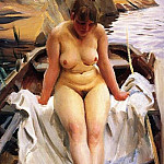 In Werners Rowing Boat, Anders Zorn