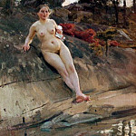 Anders Zorn - Sunbathing girl