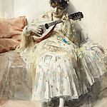 Anders Zorn - Girl playing mandolin