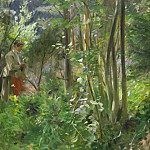 Anders Zorn - A sunny day in the forest