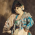 Spanish lady in black beret, Anders Zorn