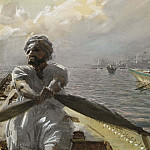 Anders Zorn - Turkish Boatman in the Constantinople Harbour