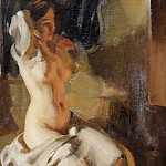 Nude in the light of the fire, Anders Zorn