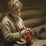 Dalecarlian Girl Knitting. Cabbage Margit, Anders Zorn