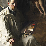 Self-portrait with a model, Anders Zorn