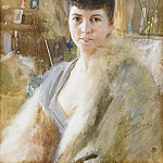 Lady with fur cape, Anders Zorn