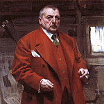 Self portrait in red, Anders Zorn