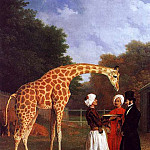 Swiss artists - Agasse Jacques Laurent The Nubian Giraffe