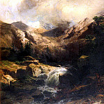 Swiss artists - Calame Alexandre Torrent De Montagne