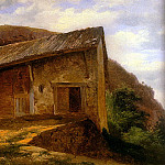 Swiss artists - Calame Alexandre A farm House On The Side Of A Mountain