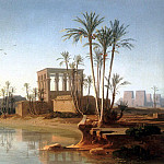 Swiss artists - The Ruins at Philae Egypt