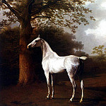 Agasse Jacques Laurent White Horse in Pasture, Swiss artists
