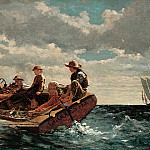part 2 American painters - Winslow Homer (1836-1910) - Breezing Up (A Fair Wind) (1873-76 National Gallery of Art)