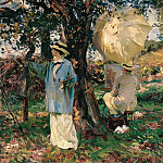 part 2 American painters - John Singer Sargent (1856-1925) - The Sketchers (ca. 1913 Virginia Museum of Fine Arts)