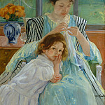part 2 American painters - Mary Cassatt (1844-1926) - Young Mother Sewing (1900 The Metropolitan Museum of Art)