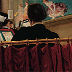 Everett Shinn – The Orchestra Pit, Old Proctors Fifth Avenue Theatre , part 2 American painters