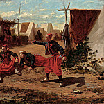 Pitching Quoits (1865 Harvard University Art Museums), Winslow Homer