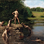 part 2 American painters - Thomas Eakins (1844-1916) - Swimming (1885 Amon Carter Museum)