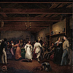 part 2 American painters - Christian Friedrich Mayr (1803-1851) - Kitchen Ball at White Sulphur Springs, Virginia (1838 North Carolina Museum of Art)