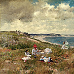 part 2 American painters - William Merritt Chase (1849-1916) - Idle Hours (ca. 1894 Amon Carter Museum)