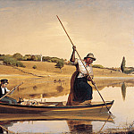 part 2 American painters - William Sidney Mount (1807-1868) - Eel Spearing at Setauket (1845 Fenimore Art Museum)