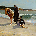 part 2 American painters - Winslow Homer (1836-1910) - Eagle Head, Manchester, Massachusetts (High Tide) (1870 The Metropolitan Museum of Art)