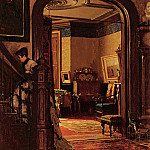 part 2 American painters - Eastman Johnson (1824-1906) - Not at Home (An Interior of the Artists House) (ca. 1873 Brooklyn Museum)