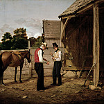 part 2 American painters - William Sidney Mount (1807-1868) - Bargaining for a Horse (Farmers Bargaining), 1835 (The New-York Historical Societ)