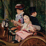 Mary Cassatt – A Woman and a Girl Driving , part 2 American painters