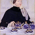 part 2 American painters - Mary Cassatt (1844-1926) - Lady at the Tea Table (1883-85 The Metropolitan Museum of Art)