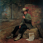 part 2 American painters - Thomas Le Clear (1818-1882) - Buffalo Newsboy (1853 Albright-Knox Art Gallery)