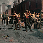 part 2 American painters - Thomas Anshutz (1851-1912) - The Ironworkers Noontime (1880 Fine Arts Museums of San Francisco)