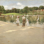 part 2 American painters - William Merritt Chase (1849-1916) - The Lake for Miniature Yachts (ca. 1888 The Terian Collection of American Art)